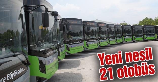 Yeni otobüs filosu seferlere başladı