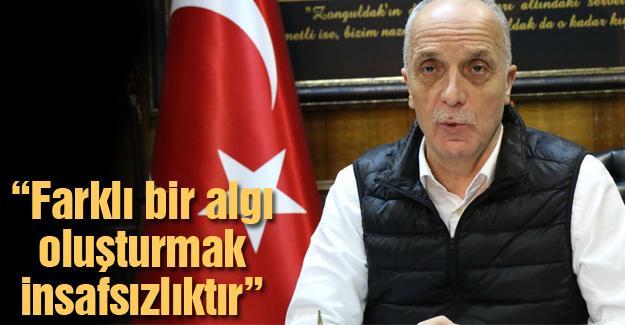 """TÜRK-İŞ Başkanı Atalay'dan """"bize bağlı"""" açıklaması"""