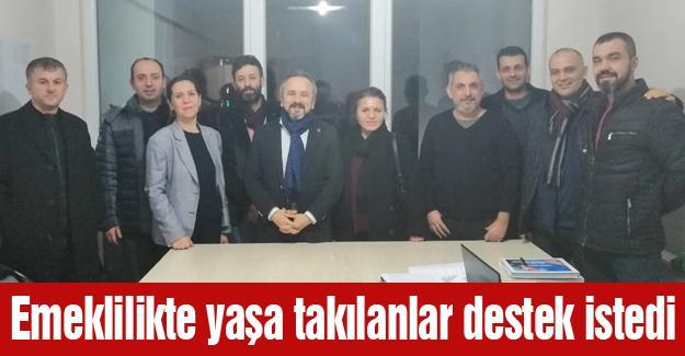EYT'lilerden başkan adayı Kazan'a ziyaret