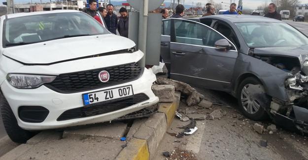 Ormanköy kavşağında kaza! 2 yaralı