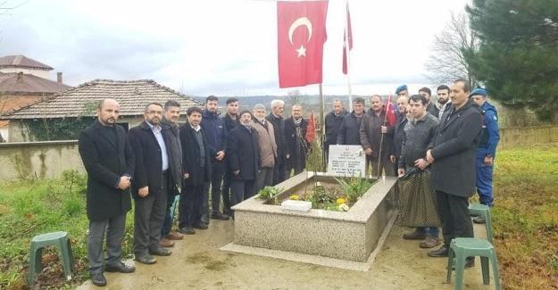 Şehit Ömer Akkuş mezarı başında anıldı