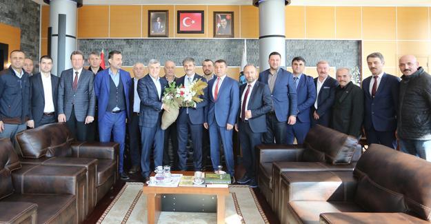 Sendika temsilcilerinden Başkan Alemdar'a tam destek