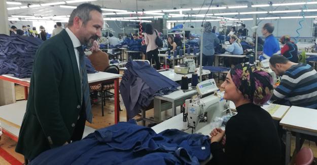 Kazan'dan tekstil atölyesine ziyaret
