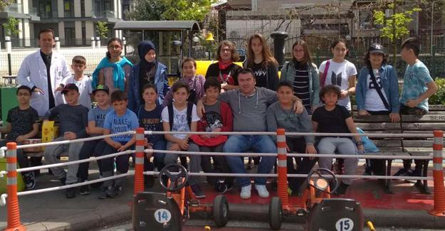 Akçakocalı öğrenciler Serdivan Trafik Park'ta