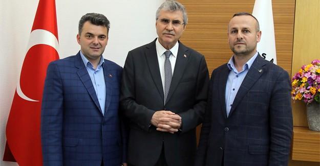 Başkan Sarı'dan, Başkan Yüce'ye ziyaret