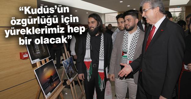 Başkan Yüce SAÜ'de Filistin programına katıldı