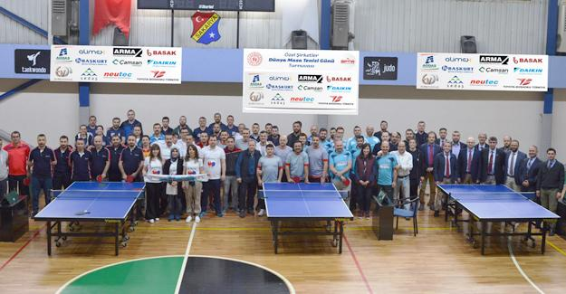 """SEDAŞlılar """"Dünya Masa Tenisi Günü"""" turnuvasına katıldı"""