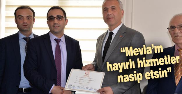 Turgut Babaoğlu mazbatasını aldı