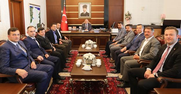 Başkan Pilavcı ve Meclis Üyelerinden Vali Nayir'e ziyaret