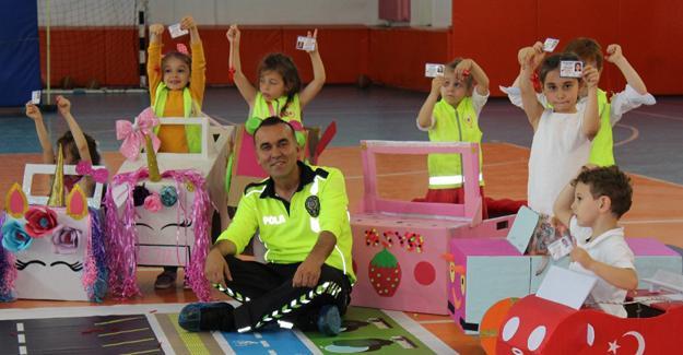 Çocuklar trafik eğitimini çok sevdi