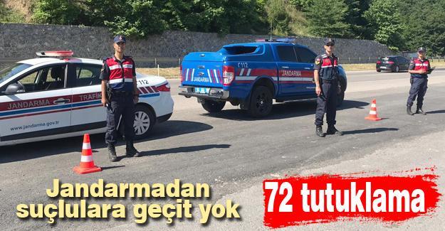 Jandarmadan suçlulara geçit yok! 72 tutuklama