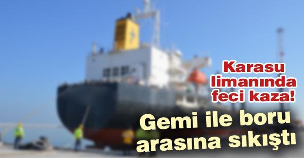 Karasu limanında feci kaza!