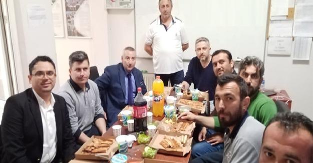 Vardiyalı çalışanlara iftar ziyareti