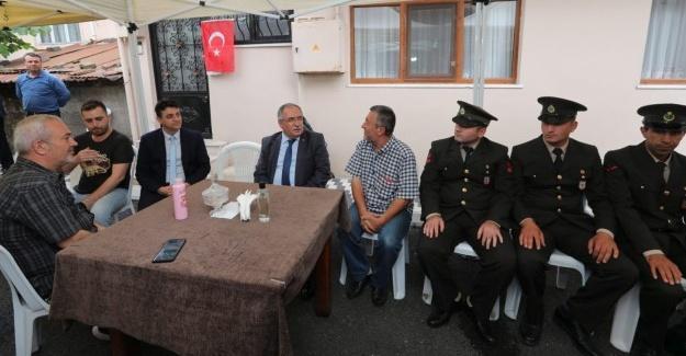 Vali Nayir'den şehit ailesine taziye ziyareti