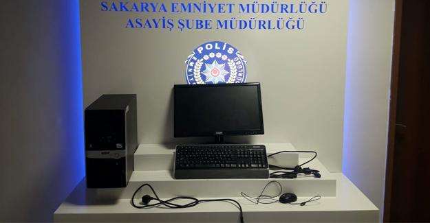 Bilgisayar hırsızları yakalandı