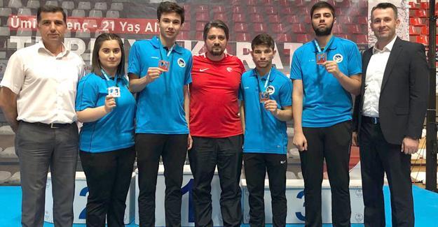 Gaziantep'te 4 madalya Büyükşehir'in