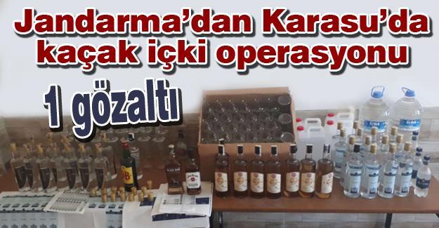 Jandarma'dan Karasu'da kaçak içki operasyonu