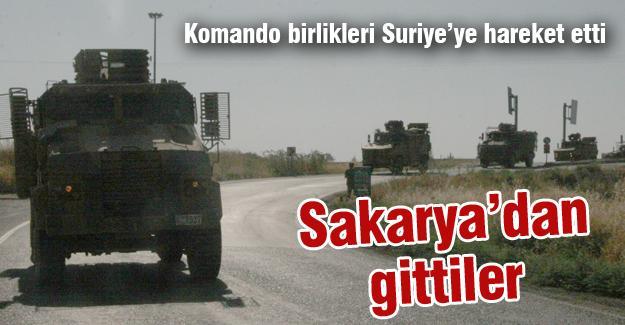 Sakarya'dan giden komando birlikleri Suriye'ye hareket etti