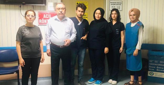 Saldırıya uğrayan sağlık çalışanlarına ziyaret