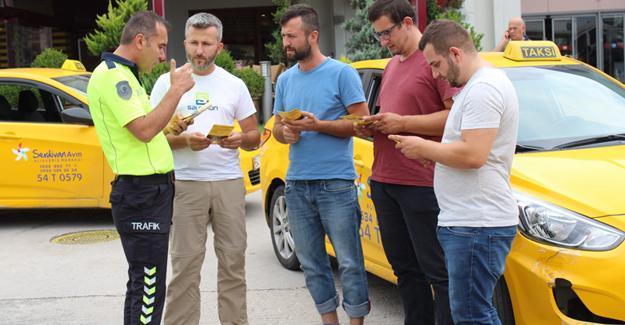 Taksi şoförleri bilgilendirildi