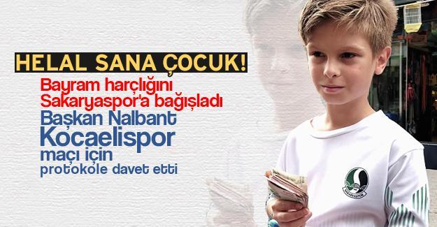 Bayram harçlığını Sakaryaspor'a bağışladı