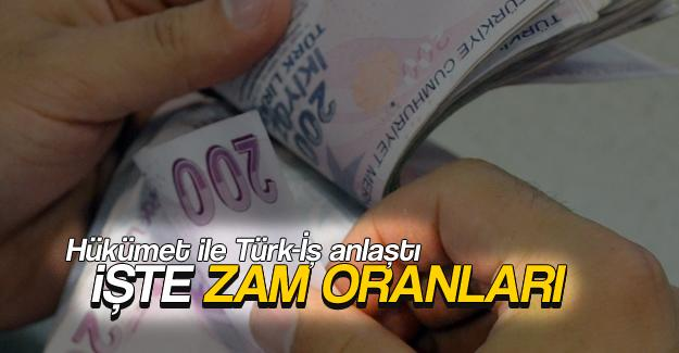 Hükümet işe Türk-İş anlaştı