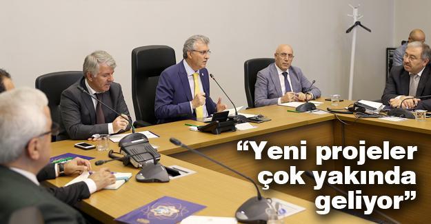 Başkan Yüce; Büyükşehir, SASKİ ve Belpaş bürokratlarıyla buluştu