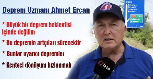 İstanbul depremi sonrası deprem uzmanı Ahmet Ercan'dan açıklama