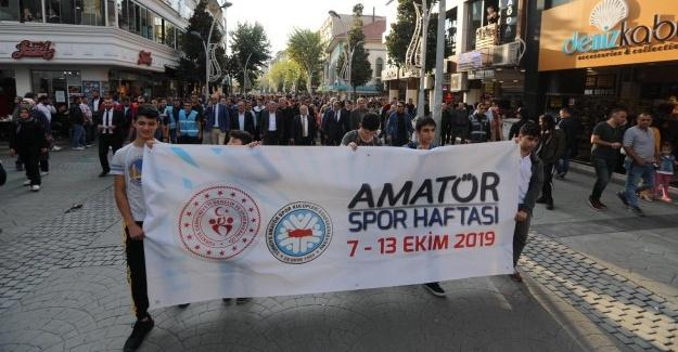 Amatör Spor Haftası etkinlikleri kortej yürüyüşü ile başladı