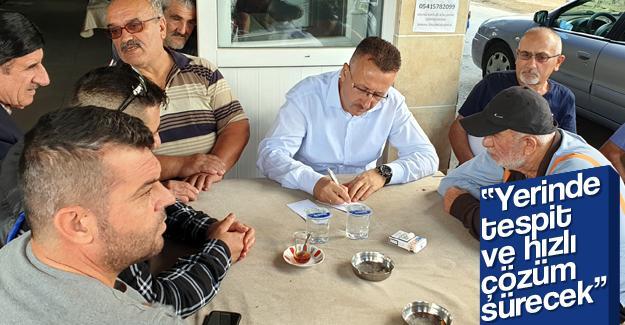 Başkan Işıksu Yenigün'de vatandaşla buluştu