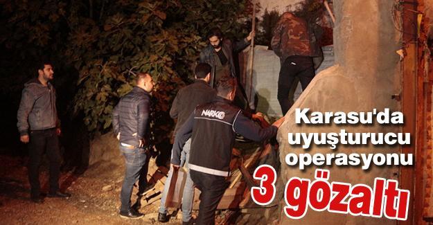 Karasu'da uyuşturucu operasyonu! 3 gözaltı