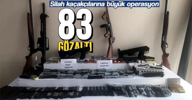 Silah kaçakçılarına büyük operasyon