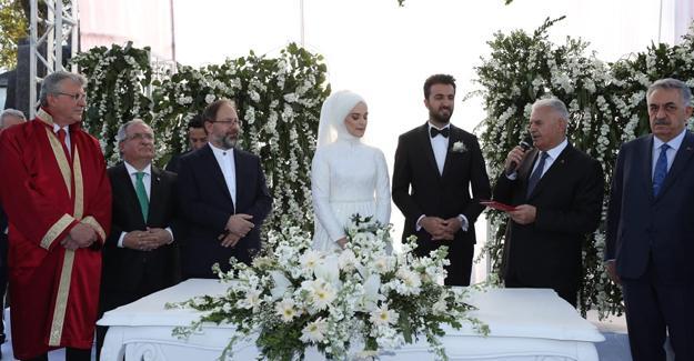 Binali Yıldırım, Çelik'in oğlunun düğününe katıldı