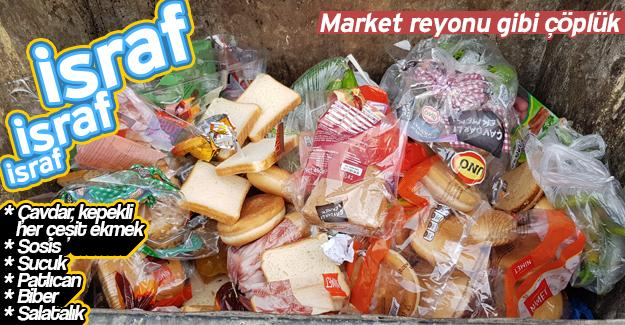 Market  reyonu gibi çöplük!