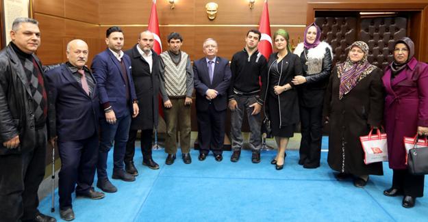 Dünya Engelliler Gününde Vali Nayir'i ziyaret ettiler