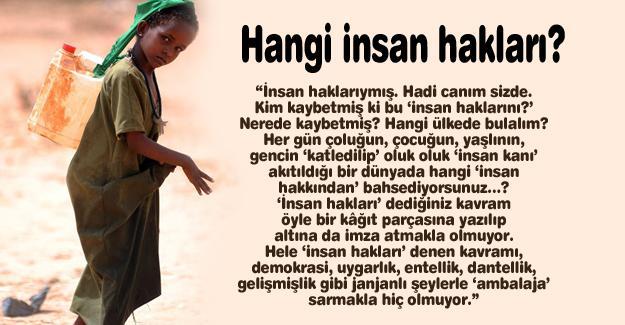 Hangi insan hakları?…