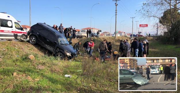 Karasu'da kaza! 2 yaralı