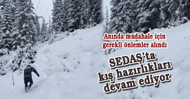 SEDAŞ'ta kış hazırlıkları devam ediyor