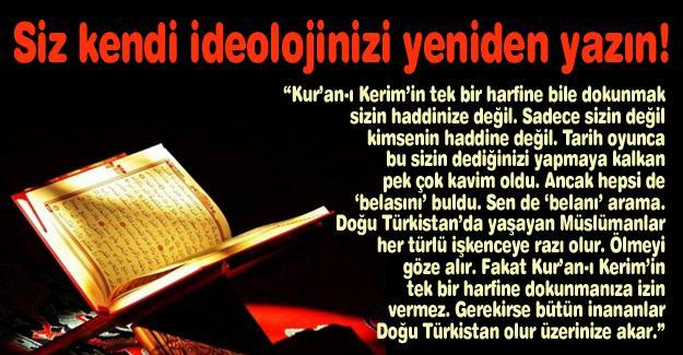 Siz kendi ideolojinizi yeniden yazın!…