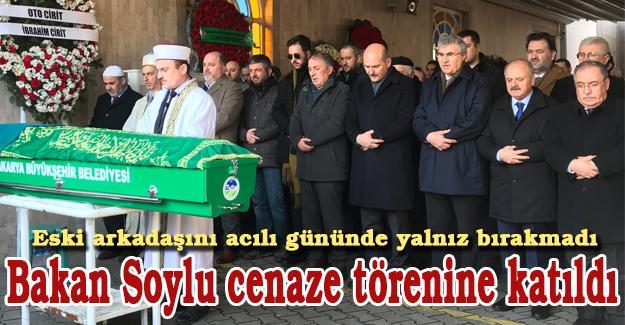 Bakan Soylu cenaze törenine katıldı