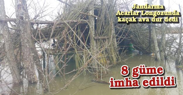 Jandarma Acarlar Longozunda kaçak ava dur dedi