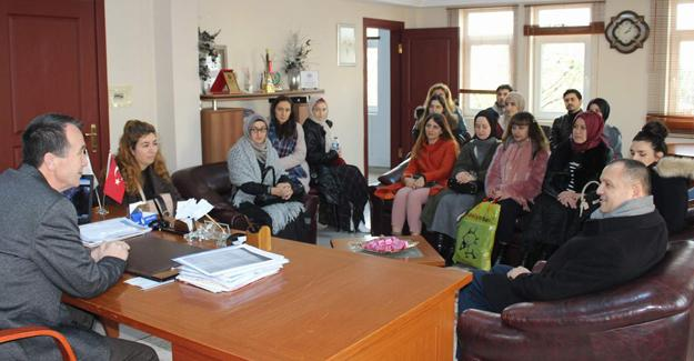 Öğretmen adayları Arifiye Belediyesinde