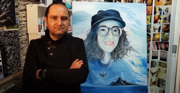 Sibel Ünli'yi ölümsüzleştirmek için portresini yaptı