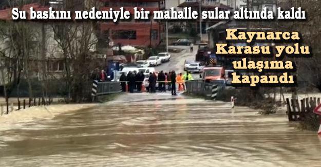 Su baskını nedeniyle bir mahalle sular altında kaldı