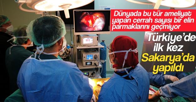 Türkiye'de ilk kez Sakarya'da yapıldı