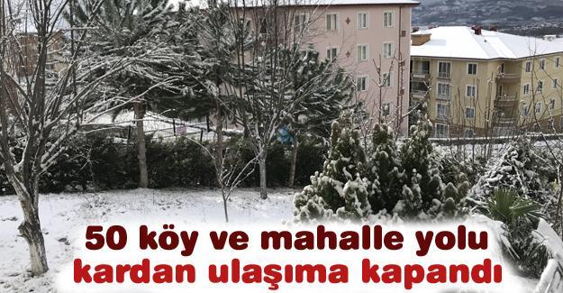 50 köy ve mahalle yolu kardan ulaşıma kapandı
