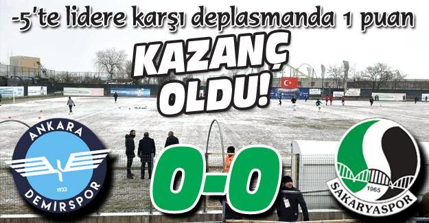 Ankara'dan 1 puanla dönüyoruz! 0-0