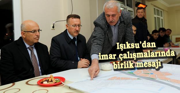 Başkan Işıksu Karaköy'de
