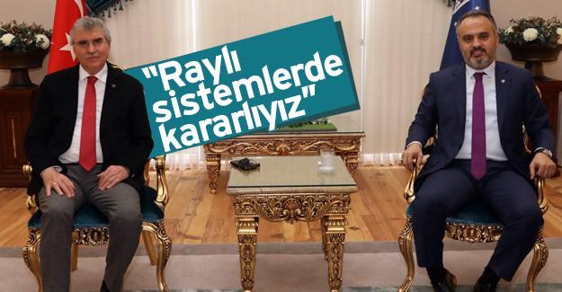 Başkan Yüce hafif raylı sistemi Bursa'da inceledi