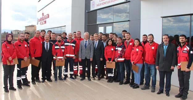 Elazığ'da görev yapan personele teşekkür belgesi